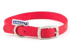Nylon Dog Collar - Red